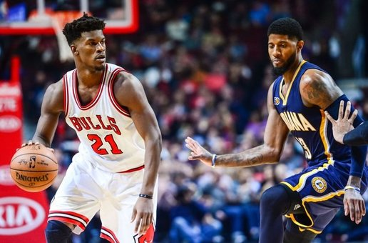 Jimmy Butler y Paul George